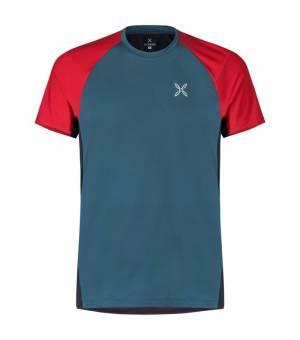 Montura Join M T-Shirt blu cenere/rosso tričko