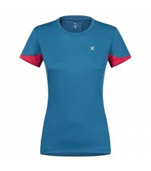 Montura Join W T-Shirt blu ottanio/rosa sugar tričko