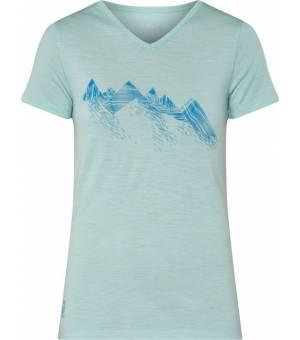 McKINLEY Saao M-TEC Merino vlna wms tričko zelené