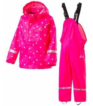 McKinley Eddie Jr Pink Set Do Dažďa Bunda + Nohavice 2020