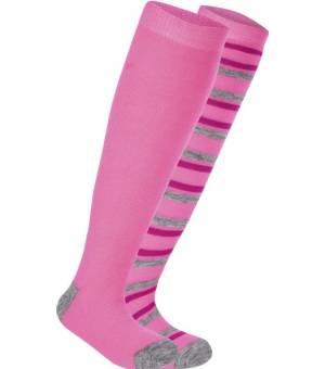 McKinley Rigo Jr lyžiarske ponožky ružové