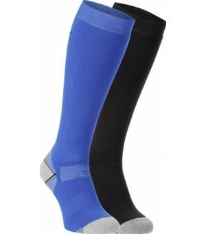 McKinley Rob lyžiarske pančuchy modré/čierne