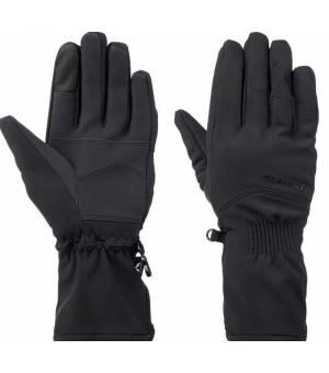McKinley Devon W softshell rukavice čierne