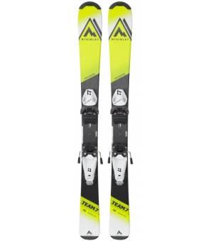 McKinley Team 7 130 - 140 cm Detské zjazdové lyže žlté 21/22