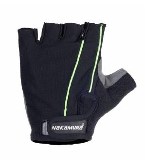 NAKAMURA Guanti M cyklisticke rukavice čierne