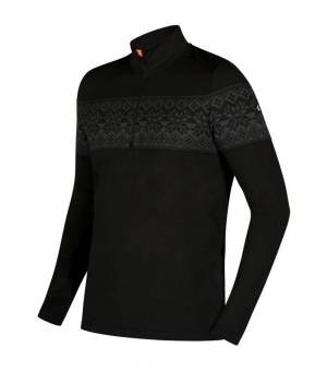 Newland Man T-Neck Champoluc Black Dark Grey rolák