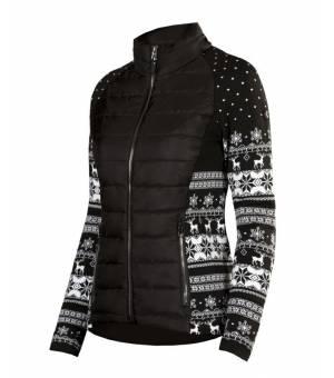 Newland Lady Full Zip Cortina Black White bunda