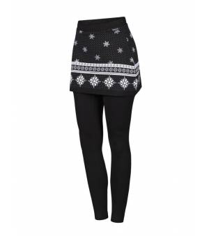 Newland Lady Skirted Leggings Charlotte Black White legíny