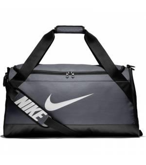 NIKE BRSLA Duffel M športová taška sivá