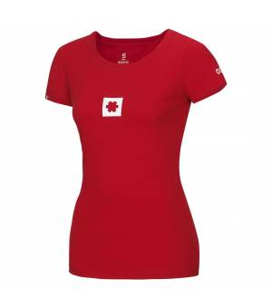 Ocun Logo Tee Women Garnet Red tričko