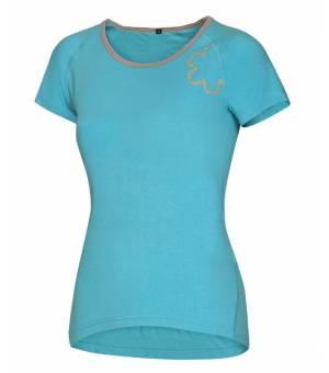 Ocun Bamboo T Blossom Women Blue Curacao tričko