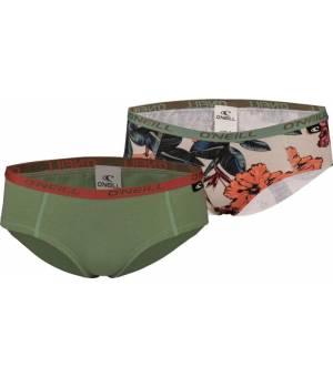 O´Neil Women Hipster 2-pack nohavičky zelené/vzorované