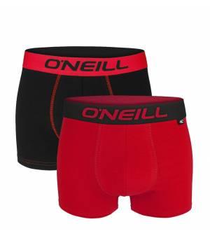 O´neill Men Boxer Plain Black / Red 2-Pack boxerky