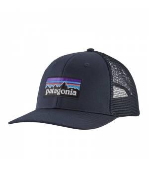 Patagonia P-6 Logo Trucker Hat navy blue šiltovka