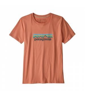 Patagonia Pastel P-6 Logo Organic Cotton W T-Shirt mellow melon tričko