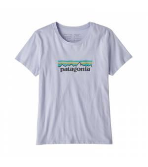 Patagonia Pastel P-6 Logo Organic Cotton W T-Shirt beluga tričko
