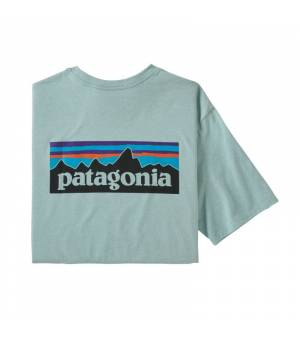 Patagonia P-6 Logo Responsibili M Tee big sky blue tričko