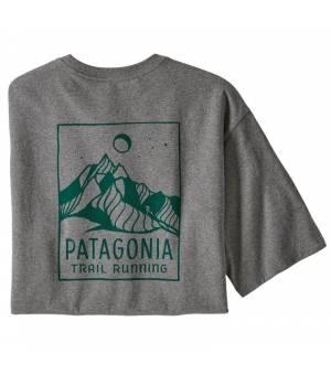 Patagonia Ridgeline Runner M Responsibili-Tee® gravel heather tričko