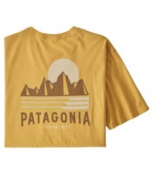 Patagonia Tube View Organic Cotton M T-Shirt mountain yellow tričko