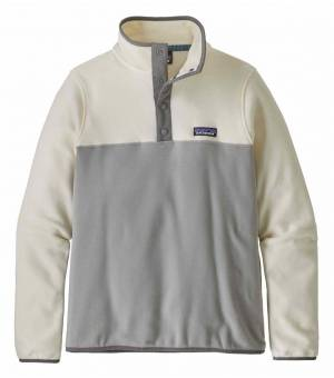 Patagonia Micro D™ Snap-T® W Fleece Pullover drifter grey/warm white mikina