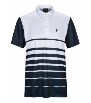 Peak Performance Bandon Print M Polo White tričko