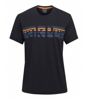 Peak Performance Explore M Tee Stripe Black tričko