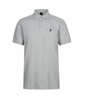 Peak Performance M Classic Polo Med Grey Mel tričko