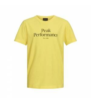 Peak Performance Jr Original Tee Citrine tričko