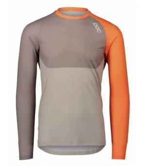 POC MTB Pure LS Jersey LT M Orange Grey cykl. dres