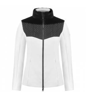 Poivre Blanc W Multi-fabric Stretch Fleece Jacket Multico White mikina