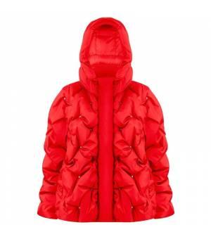 Poivre Blanc W Oversized Padded Jacket Scarlet Red bunda