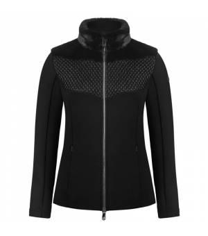Poivre Blanc W Multi-fabric Stretch Fleece Jacket Black mikina