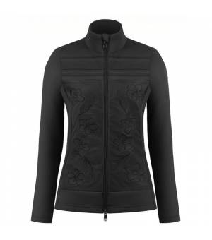 Poivre Blanc W Hybrid Stretch Fleece Jacket Black mikina