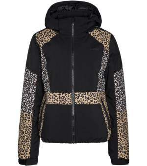 Protest Aiko W Ski Jacket Leopard Print True Black Bunda