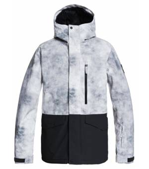 Quiksilver Mission Printed Block Snow Jacket M lyžiarska bunda sivá