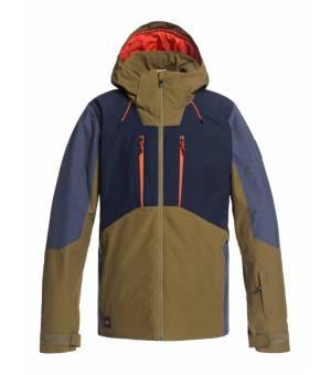 Quiksilver Mission Plus Snow M Jacket Military Olive lyžiarska bunda