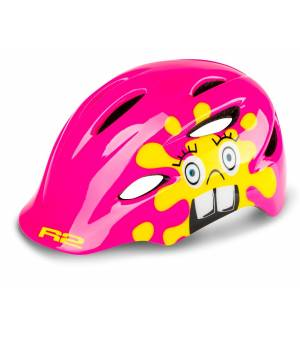 R2 Cyklistická prilba Ducky Pink Yellow 2020