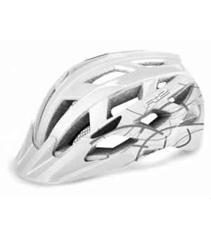 R2 Cyklistická prilba Lumen Junior White-Grey 2020