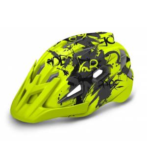 R2 Wheelie Jr. Neon Yellow/Grey cyklistická prilba 2020
