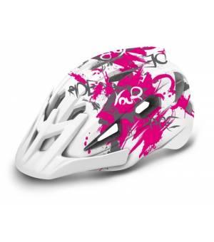 R2 Wheelie Jr. White/Pink cyklistická prilba 2020