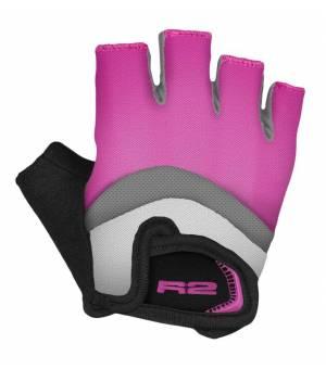 R2 Loop Pink/Grey/White cyklistické rukavice