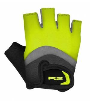 R2 Loop Neon Yellow/Grey/Black cyklistické rukavice
