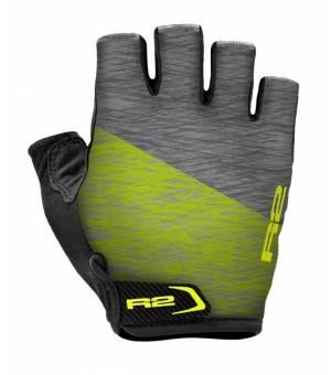 R2 Spike Grey/Neon Yellow cyklistické rukavice