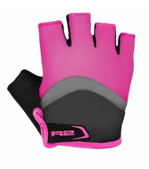 R2 Loop Jr. cyklistické rukavice Pink/Grey/White