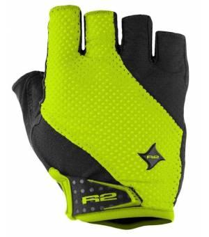 R2 Ribbon Black/Neon Yellow cyklistické rukavice
