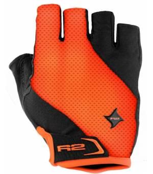 R2 Ribbon Black/Neon orange cyklistické rukavice