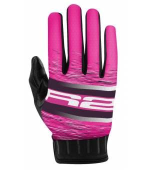 R2 Odyssey Pink/White cyklistické rukavice