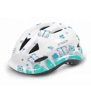 R2 Lucky Jr. White/Blue/Mint cyklistická prilba