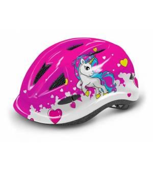 R2 Lucky Jr. Pink/White cyklistická prilba