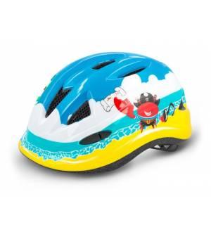 R2 Lucky Jr. Blue/Yellow cyklistická prilba